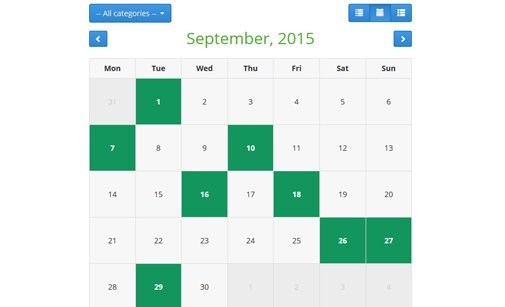 Calendar Booking System Php : Free event calendar php script phpjabbers