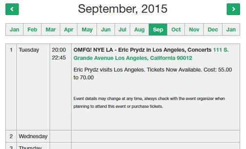 PHP Calendar Script