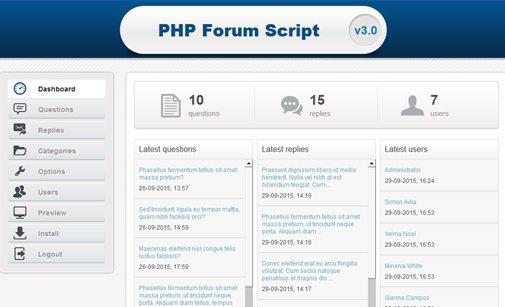 Simple PHP Forum Script