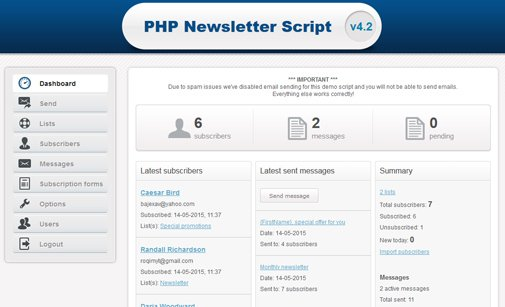 PHP Newsletter System
