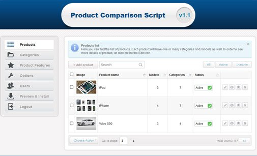Product Comparison Tool