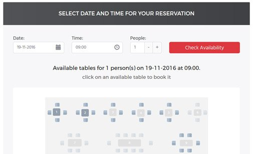 Restaurant Booking System | Table Booking System | PHPJabbers
