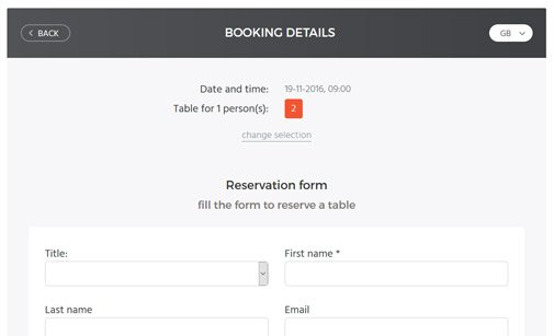 Table Booking System