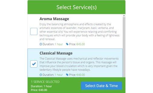 Service Booking Script