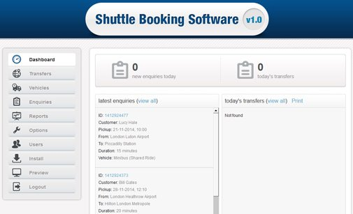 Shuttle Booking System