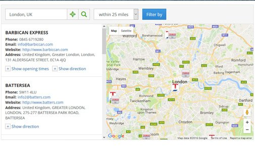 Store Locator Script | Google Maps Store Locator | PHPJabbers on