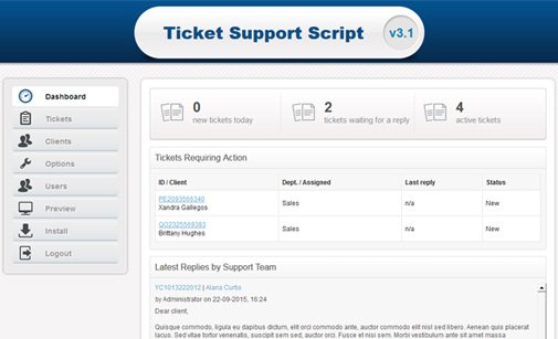Support Ticket System
