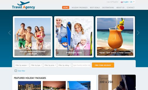 Travel Agency Website