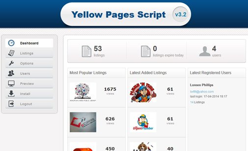 Yellow Pages Script | PHP Business Directory Script | PHPJabbers