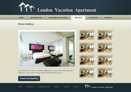 Vacation Home Website Template 1