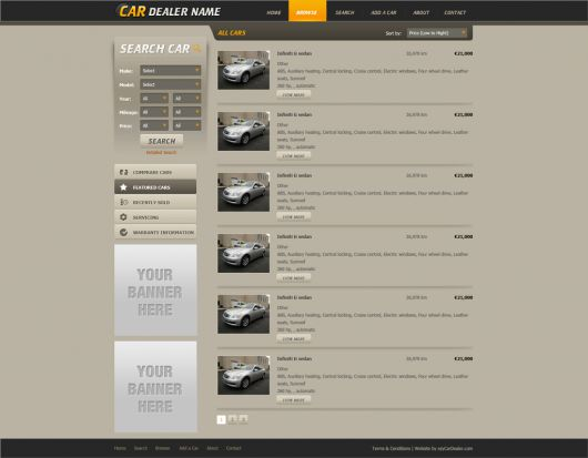 Car Website Template 106