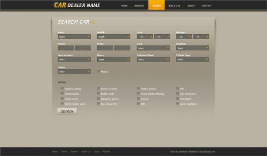 Car Website Template 106
