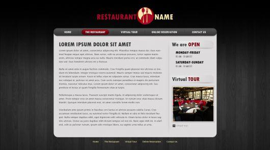 Restaurant Website Template 115