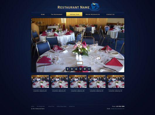Restaurant Website Template 116