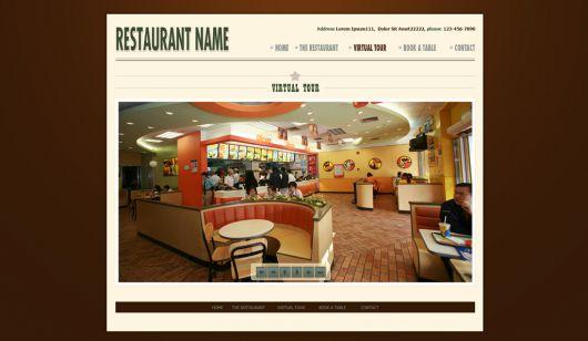 Restaurant Website Template 118