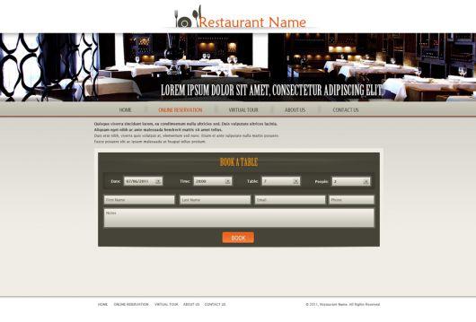 Restaurant Website Template 119