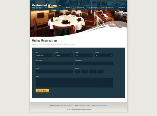 Restaurant Website Template 120