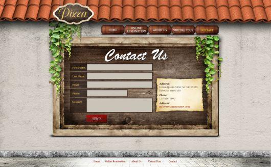 Restaurant Website Template 121