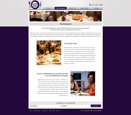 Restaurant Website Template 122