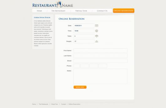Restaurant Website Template 125