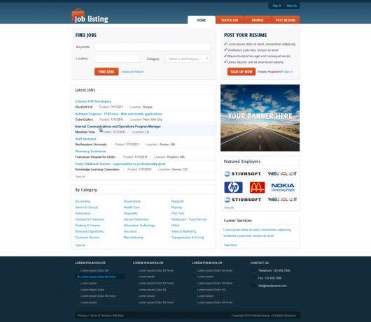 Job Website Template 129