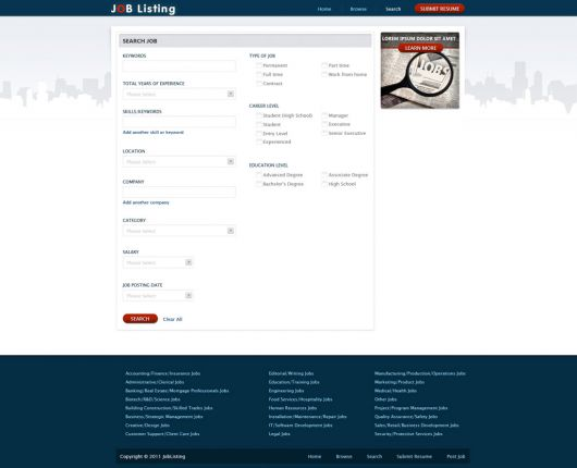 Job Seacrh Web Template 130
