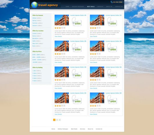 Travel Website Template 141