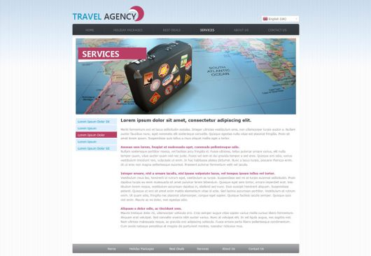 Travel Agency Web Template 142