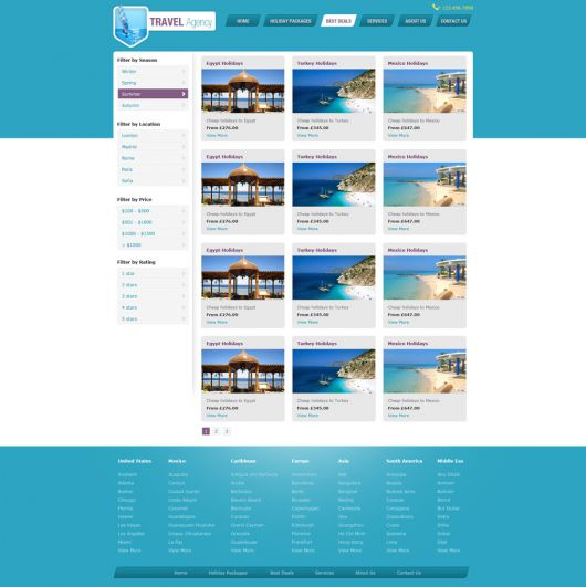 Travel Website Template 147