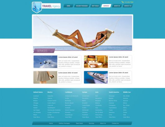 Travel Website Template 147