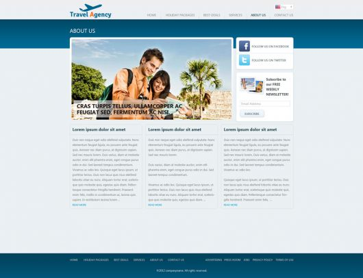 Travel Website Template 148