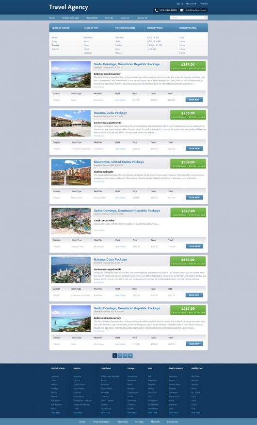 Travel Agency Website Template 149