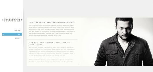 Photography Website Template 150