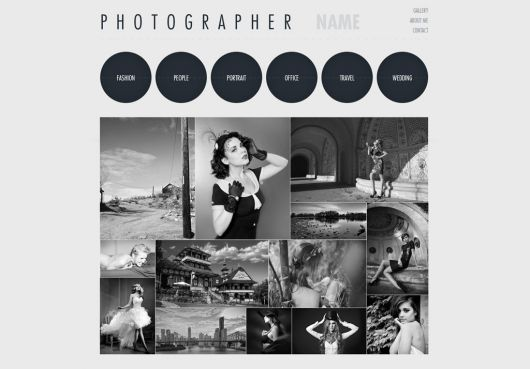 Photography Website Template 151