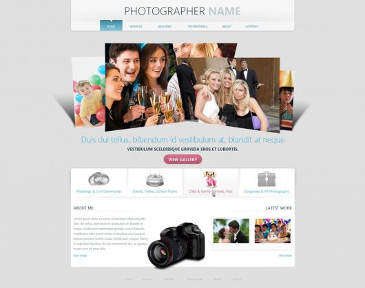 Photographer Website Template 156