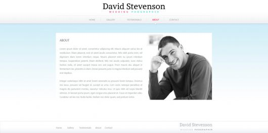 Photography Website Template 158