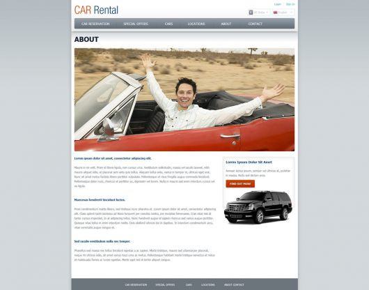 Car Rental Website Template 159