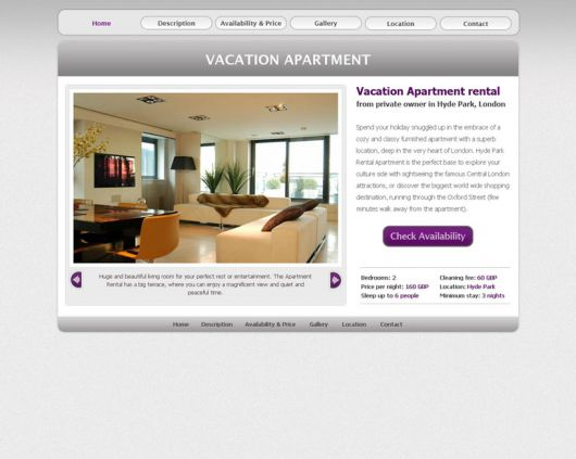 Vacation Rental Website Template 16