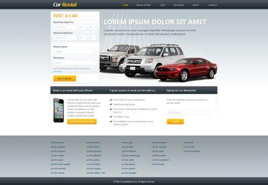Car Rental Website Template 160