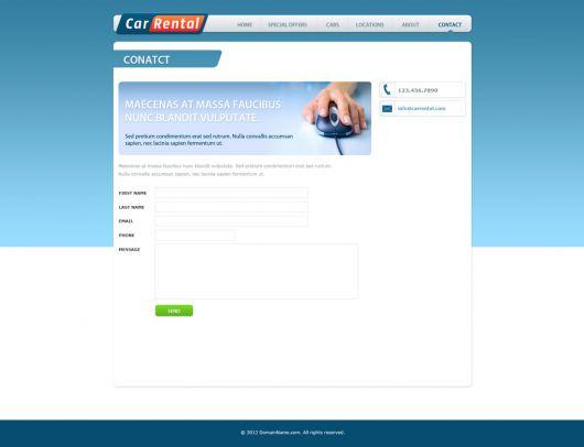 Car Rental Website Template 161