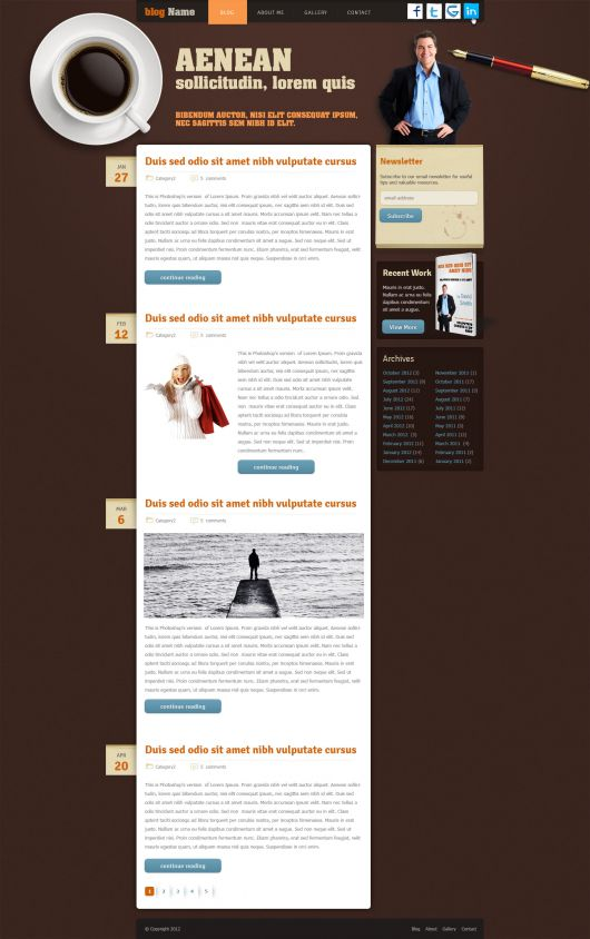 Blog Website Template 170