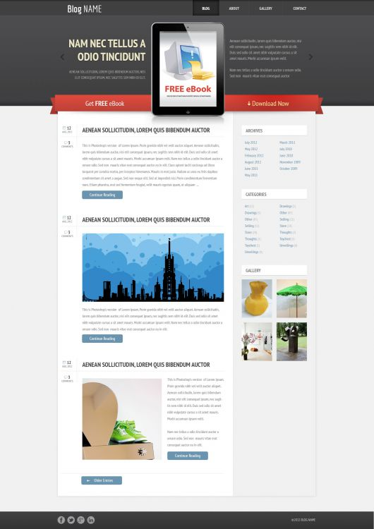 Blogger Template 174