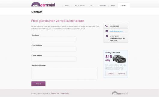 Rent a Car Template 180