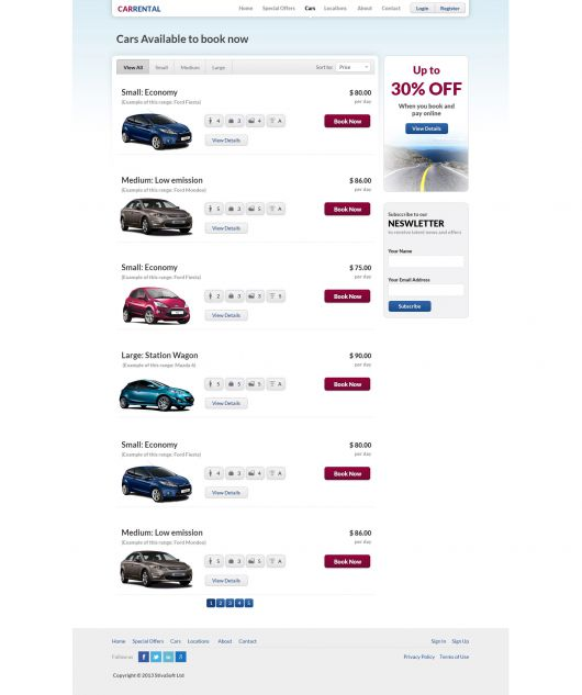 Car Rental Template 183