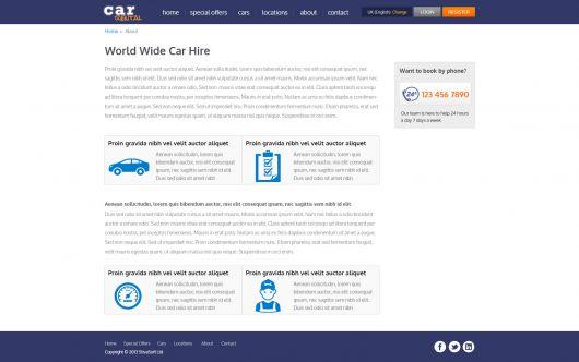 Car Rental Template 184