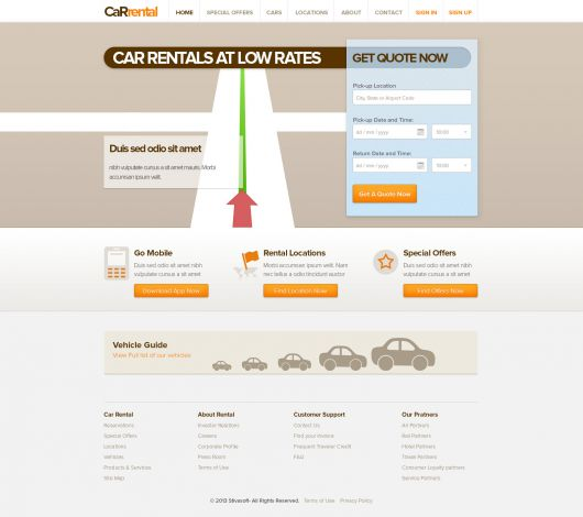 Car Rental Template 186