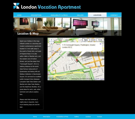 Vacation Home Website Template 2