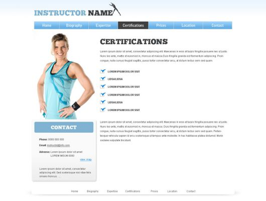 Fitness Website Template 21
