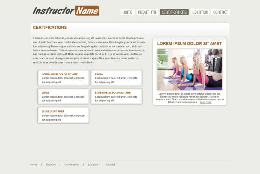 Fitness Website Template 22