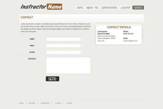 Fitness Website Template 22